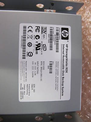 Hp Rdx Ap709at 320 Gb Removable Back Up Drive 5 25